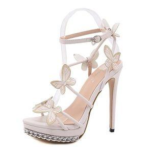 platform heels/ butterfly